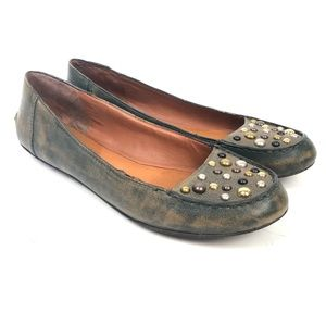 Lucky Brand Leather Flats Size 10 Studded